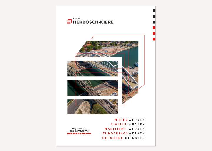 Ontwerp voorstel advertentie Herbosch-Kiere (mogelijk affiche) met foto verwerkt in vergroot logo contour 01