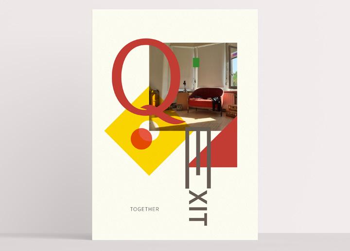 Poster ontwerp & foto 'exitstrategie corona / quarantaine' (thuis gemaakt ;-)