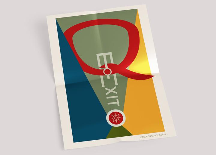 Poster ontwerp 'CIRCUS QUARANTAINE' 2020