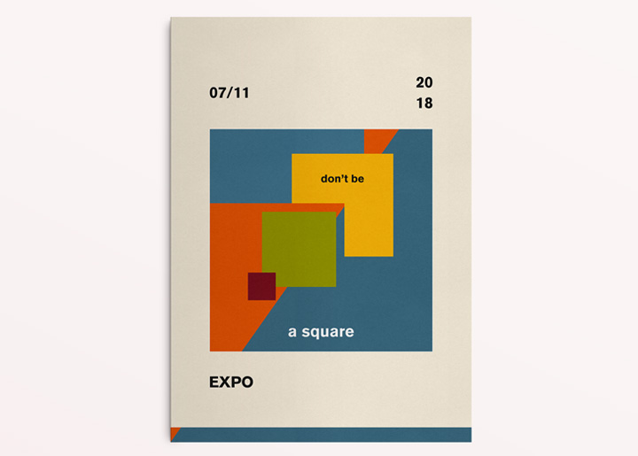 poster design - Graphic Experiment Expo 2018  'Don't be a Square' ...