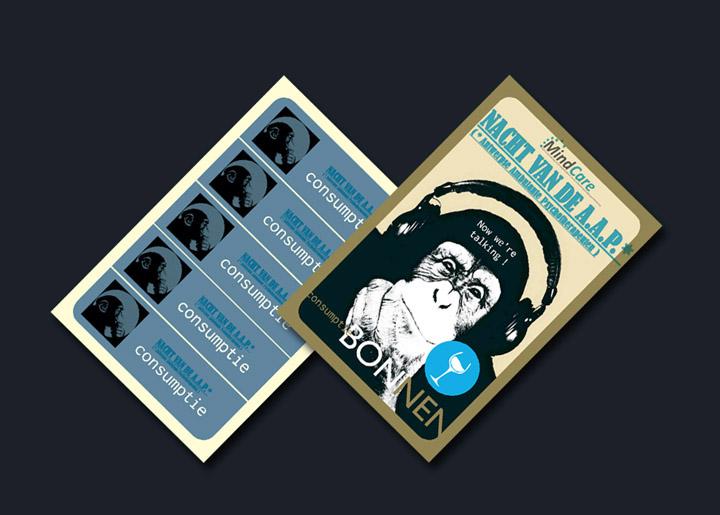 ontwerp consumptiebon 'MindCare - Nacht van de A.A.P.' - Antwerpse Ambulante Psychotherapeuten
