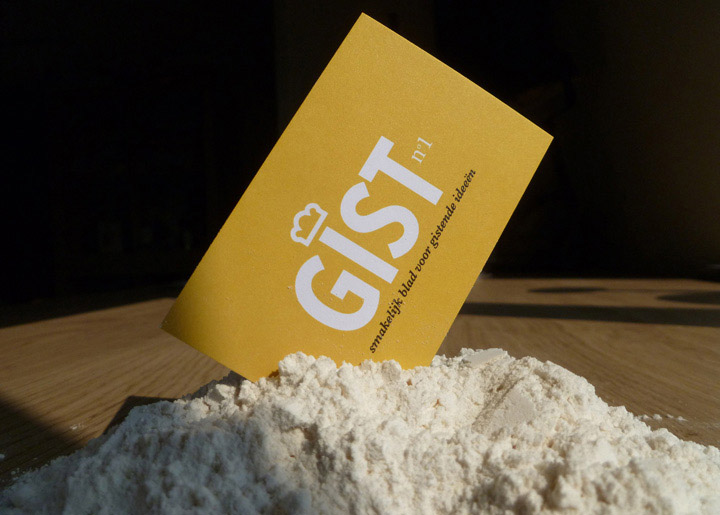 ontwerp logo & visitekaartje 'GIST, independant (photo) graphic Zine'