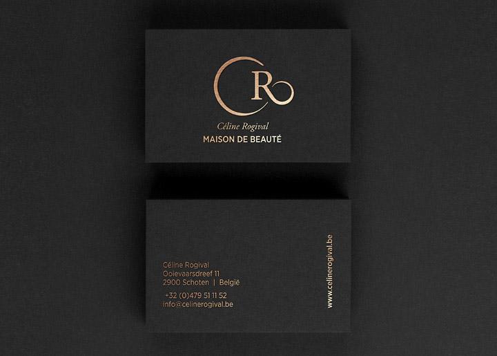 ontwerp logo & visitekaartje 'Maison de Beauté par Céline Rogival' schoonheidssalon in Schoten - België