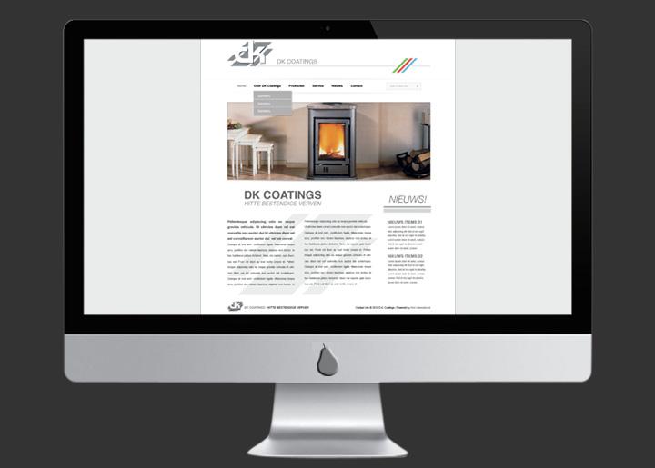 Website ontwerp DK Coatings i.o.v. 'webinternational'