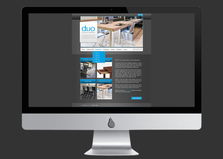 Website ontwerp Duo bvba i.o.v. 'webinternational'