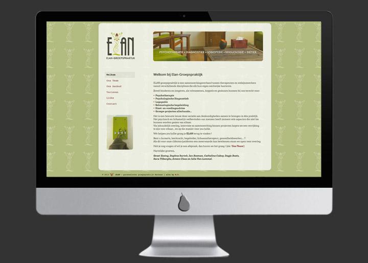 website ontwerp & ontwikkeling (Joomla CMS) voor Elan-Groepspraktijk: www.elan-groepspraktijk.be