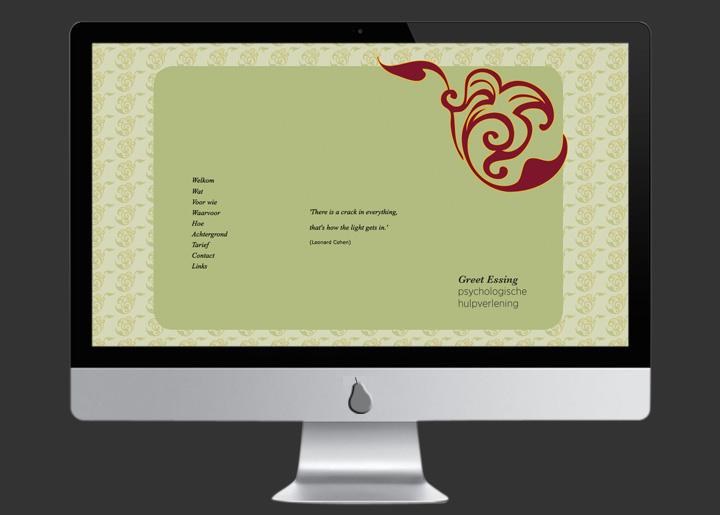 Website ontwerp & ontwikkeling voor psychotherapeute Greet Essing, Antwerpen: www.essing.be