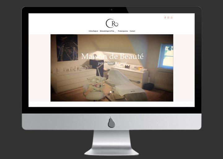 website ontwerp & ontwikkeling (Joomla CMS) 'Maison de Beauté par Céline Rogival' schoonheidssalon in Schoten - België: www.celinerogival.be