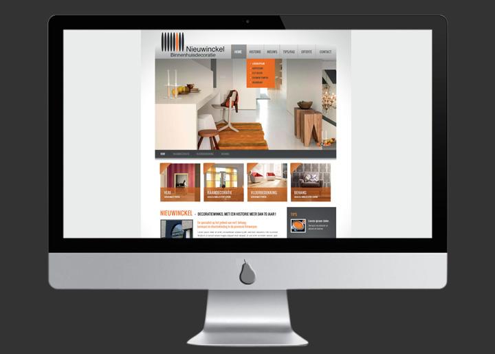 Website ontwerp Nieuwinckel binnenhuisdecoratie i.o.v. 'webinternational'