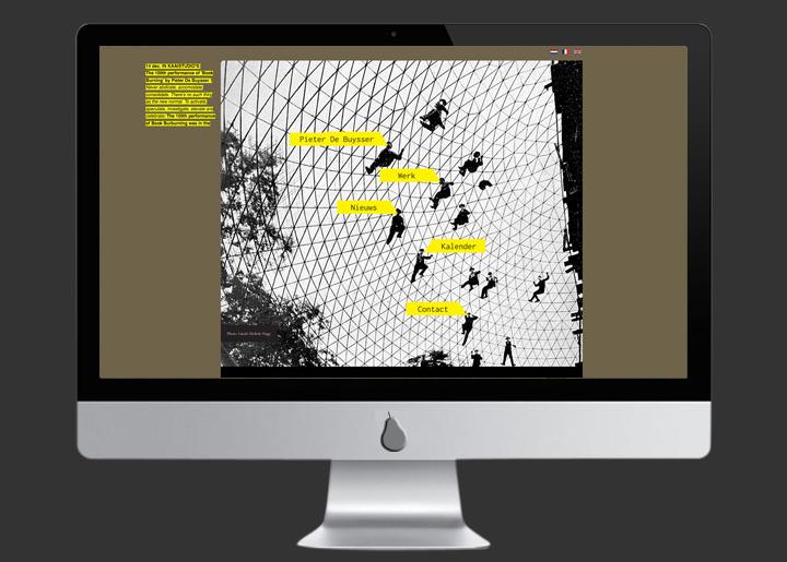 website ontwerp & ontwikkeling (Joomla CMS) voor Pieter De Buysser (schrijver, film- en theatermaker): www.pieterdebuysser.com