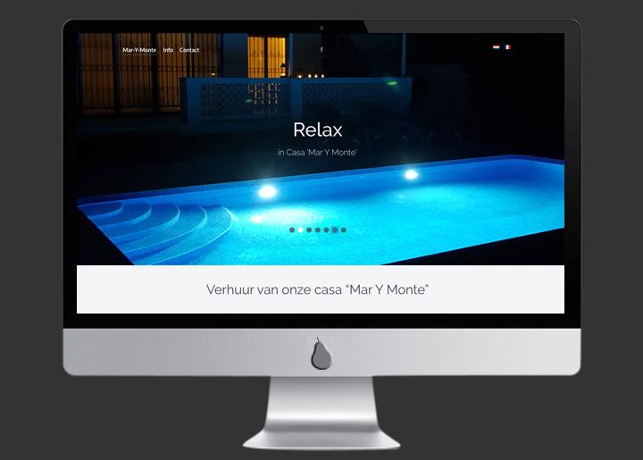 website ontwerp & ontwikkeling (Joomla CMS) 'Mar Y Monte', vakantiehuis verhuur in Villajoyosa aan de Costa Blanca in Spanje: www.marymonte.be